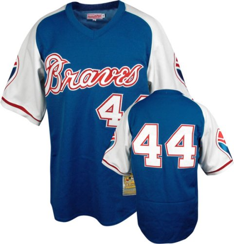 best loved 8b306 91a76 Amazon.com : Hank Aaron Mitchell & Ness Authentic 1974 Road ...