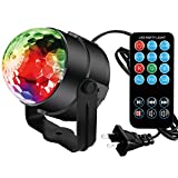 Led Stage DJ Disco Party Ball Projector Lights Spriak 3w Strobe Lamp with Remote Control 7 Color Sound Activated Stage Lighting Effect Show Wedding light bulb Color Night Light Children's Toy Lights