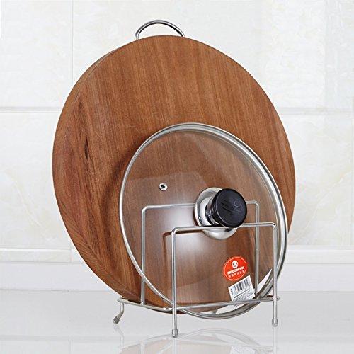 Lying Küche Multifunktionsdeckel Abdeckung Edelstahl Schneidebrett Rack Lagerung Rack Ablass Rack -Verwendet, um die Küche aufzuräumen (Farbe : SilverB)
