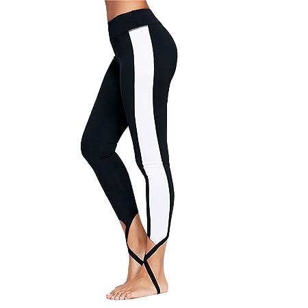 Dfghbn Pantalones de Yoga Pantalones de Yoga Mujer Nueve ...
