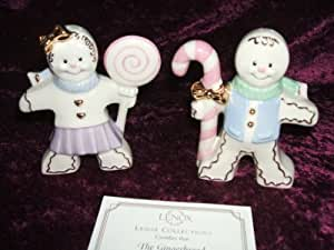 Lenox China Gingerbread Salt & Pepper Shakers New in Box with COA