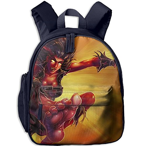 Red She Hulk Functional Design For Students School Backpack Children Bookbag Perfect For Transporting For School In 4 Season Navy (Hulk Hogan Costume Kids)