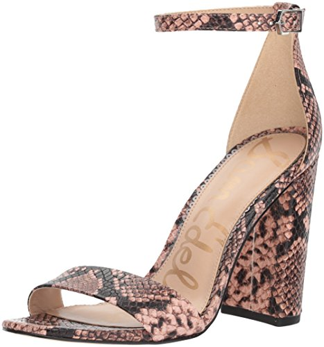 (Sam Edelman Women's Yaro Heeled Sandal, Dusty Rose Snake Print, 7.5 M US)