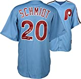 Mike Schmidt Philadelphia Phillies Autographed Majestic Cooperstown Replica Blue Jersey with 80,81,86 NL MVP Inscription - Fanatics Authentic Certified