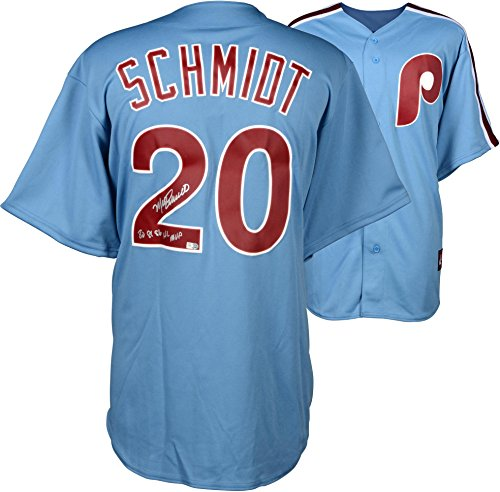 - Mike Schmidt Philadelphia Phillies Autographed Majestic Cooperstown Replica Blue Jersey with