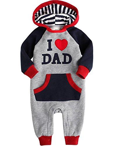 Toddler Infant Fleece Hooded Jumpsuit
