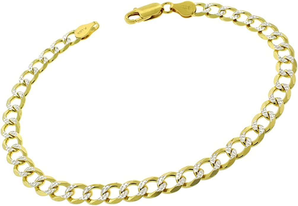 925 Sterling Silver 10.5mm Solid Cuban Gold Plated ITProLux Chain Necklace