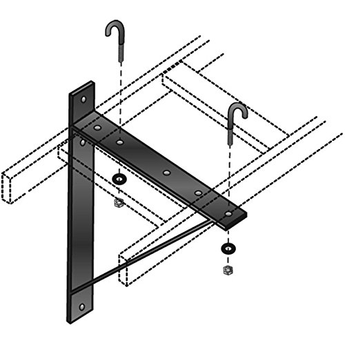 Black Box Ladder Rack Triangular Support Bracket, 12