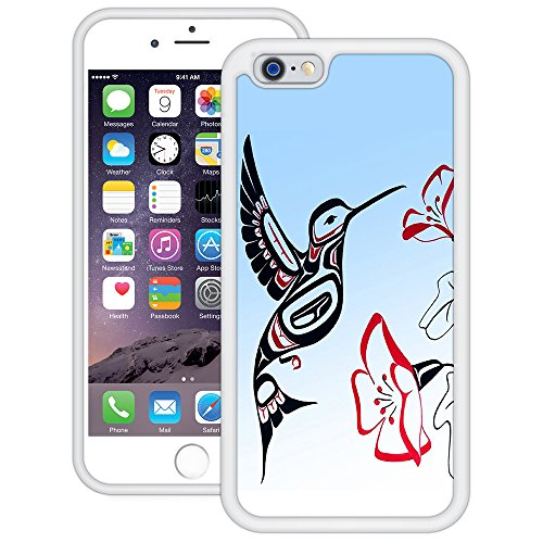 Kolibri | Handgefertigt | iPhone 6 6s (4,7') | Weiß TPU Hülle