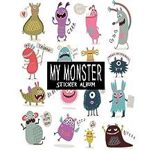 My Monster Sticker Album: Blank Sticker Book, Sticker Book Collecting Album - 100 pages Size Is 8 x 10