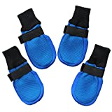 Hiado Dog Boots Shoes with Breathable Mesh and Anti Slip Traction Rubber Soles for Hardwood Floors to Prevent Scratching Sliding Giant Extra Large Dogs Xlarge Blue Xl