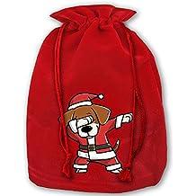 Dabbing Beagle Ugly Christmas Sweater Red Christmas Drawstring Bags / Santa's Trouser Bag/ Christmas Gift