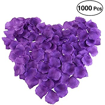 Amazon 1000 silk rose petals lapis deep purple home kitchen pixnor 1000pcs silk rose petals decorations for wedding party purple mightylinksfo