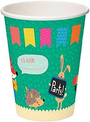 Padrino Vaso de papel con animales por ejemplo para ...