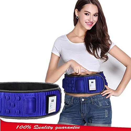 Furlove Slim Massage Belt Machine to Lose Weight,Vibration Heat Fitness Waist Massager for Men & Women, 42 inches Length