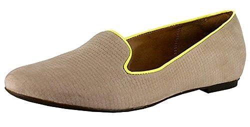 CLARKS Womens Valley Lounge Tan Nubuck Loafer 9 B - Medium