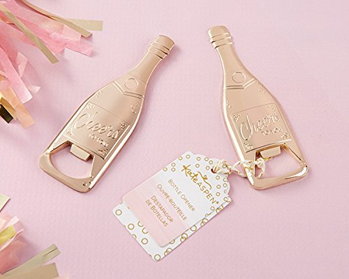 50 Gold Champagne Shaped Bottle Openers by Kate Aspen