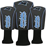 NFL McArthur Carolina Panthers Black Three-Pack Golf Club Headcovers
