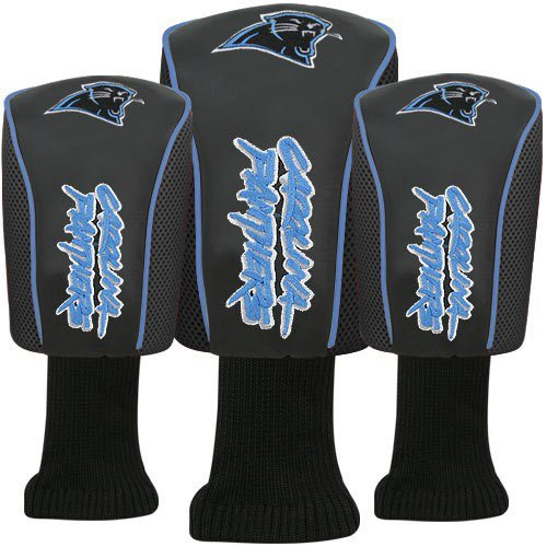 NFL McArthur Carolina Panthers Black Three-Pack Golf Club Headcovers by McArthur