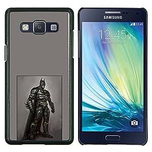 YiPhone /// Prima de resorte delgada de la cubierta del caso de Shell Armor - Bat Héroe Traje Negro Pintura Máscara Arte - Samsung Galaxy A5 A5000