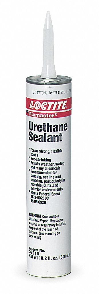 Loctite 39916 Gray Loctite One-Part Gray Urethane Paste, Shore Hardness 33 Shore A, Shear Strength 170 PSI, Tensile Strength 200 PSI, 10.2 oz Cartridge
