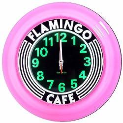 Flamingo Cafe Art Deco Clock