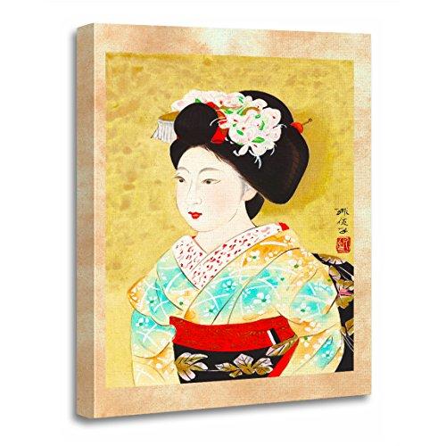 TORASS Canvas Wall Art Print Japan Kajiwara Hisako Kyoto Maiko Geisha Fine Japanese Artwork for Home Decor 16