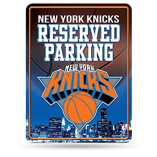 NBA New York Knicks 8-Inch by 11-Inch Metal Parking Sign Décor]()