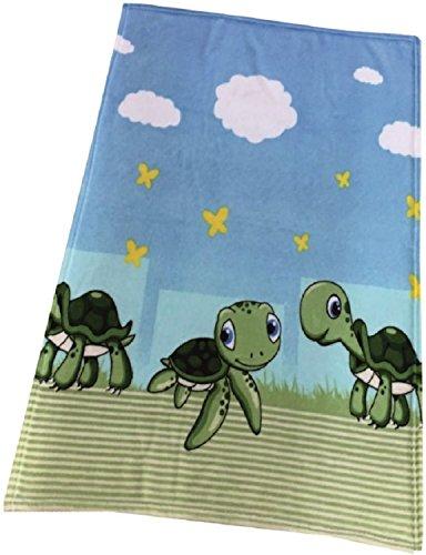 Bébé couverture doudou couverture en laine polaire Tapis D'éveil Couverture 75x 100cm Tortue
