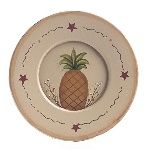 Factory Direct Craft Prim Painted Pineapple Decorative Plate for Displaying and Gifting