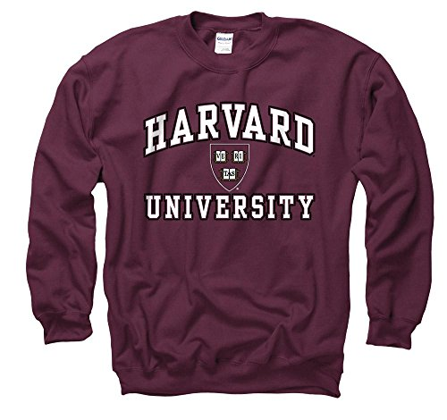 Harvard University Arch White In Black Out Seal Crew Neck Sweatshirt S ()