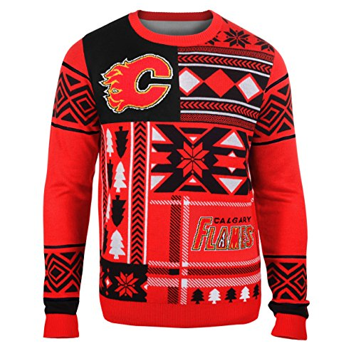 Calgary Flames Christmas Sweater, Flames Holiday Sweater