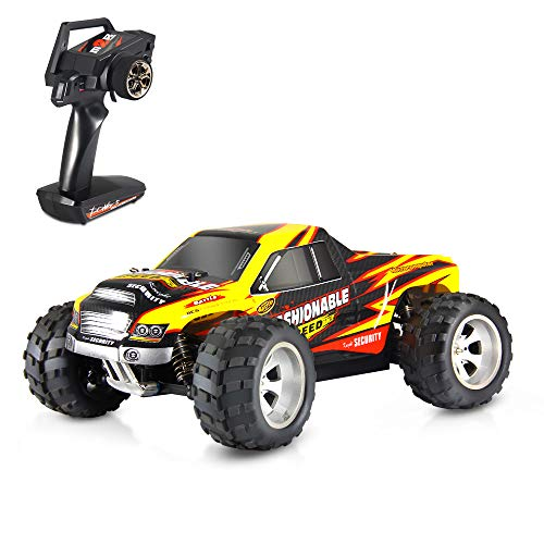 Geekper RC Trucks, Remote Control Car - 40KM/H Terrain RC Car - Electric Remote Control Off Road Monster Truck 1:18 Scale 2.4Ghz Radio 4WD Fast RC Vehicle (Yellow)