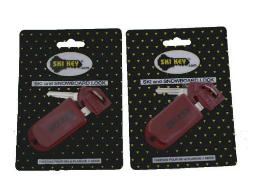 Ski & Snowboard Locks Keyed the Same (Red)- Family Lock Set (Paoli Peak compare prices)