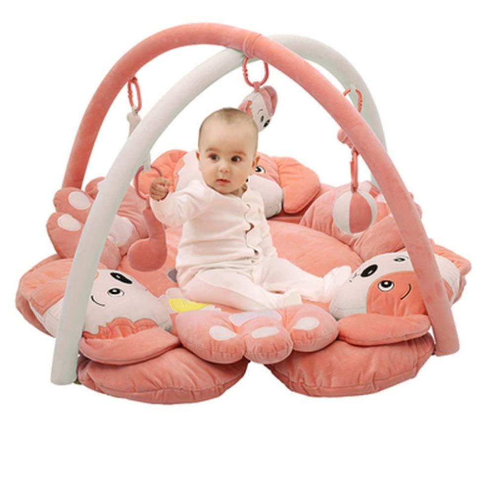 ベビープレイマットと活動ジム、動物の楽園ベビークローラークローラーマットベビースタンドのおもちゃ B07PQ1DS7M Puppy|Pink Pink Puppy