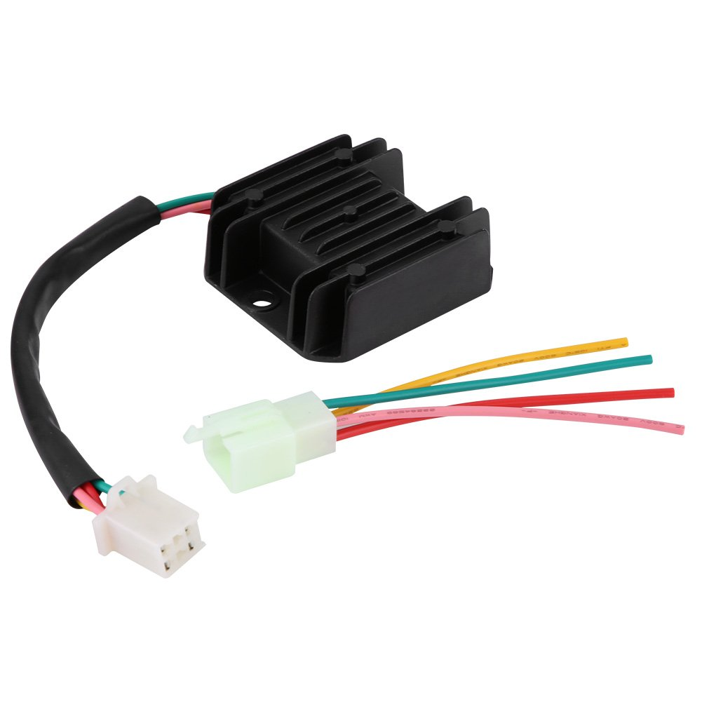 Motorcycle Voltage Regulator Rectifier with 4 Wires for Motorcycle Boat Motor ATV GY6 50 150cc Scooter