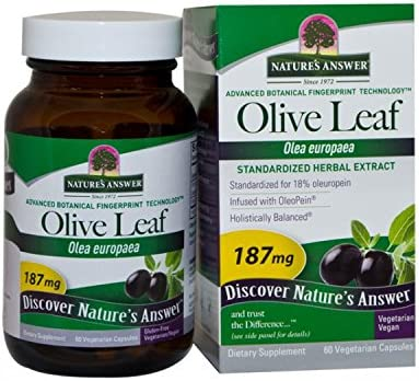 Nature s Answer Oleopein Olive Leaf Vegetarian Capsules, 60-Count