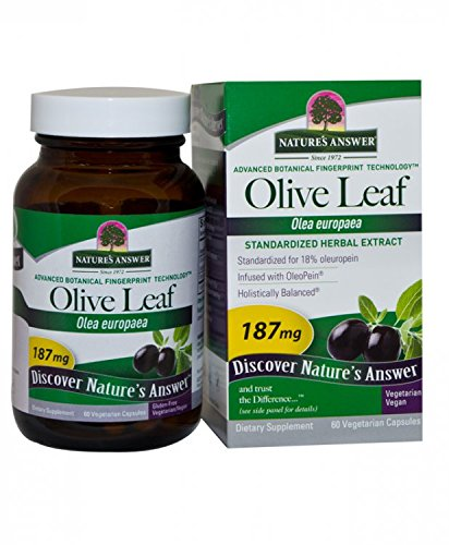 Nature's Answer Oleopein Olive Leaf Vegetarian Capsules, 60-Count