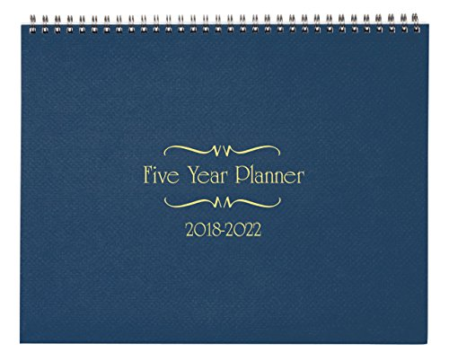 5 Year Calendar Diary 2018-2022 Blue by Miles Kimball
