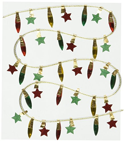 Jolee's Boutique Themed Ornate Dimensional Stickers, Christmas Lights