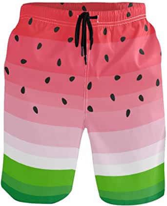 visesunny Fashion Cool Style Mens Beach Shorts Swim Trunks Quick Dry Casual Polyester Swim Shorts with Pockets S-XXL