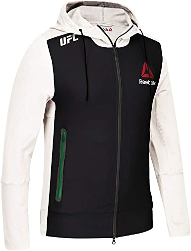Reebok Women/'s X UFC FK Walkout Full Zip Long Sleeve Hoodie Jacket Zipped Pocket