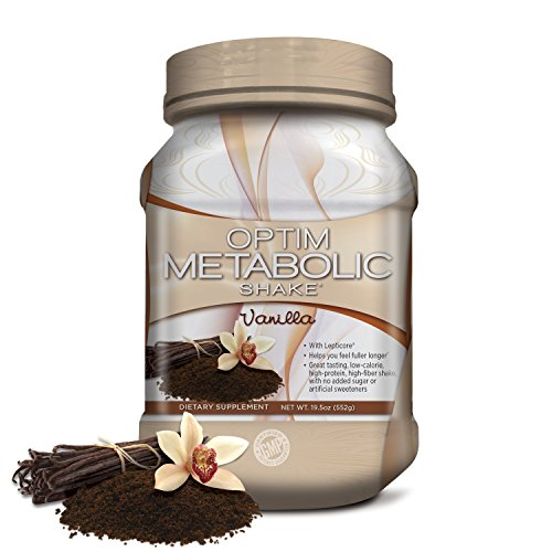 Meal Replacement Protein Shake Powder With Clinically Proven Ingredients For Weight Management. Whey Protein, Plant Protein, High Fiber, Low Carb, Vanilla, 15 servings