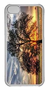 iPhone 5C Case, Personalized Custom Sunlight Tree for iPhone 5C PC Clear Case