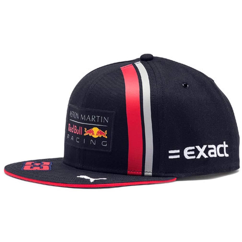 PUMA Red Bull Racing Max Verstappen Flat Brim Hat 2019, Navy, One Size