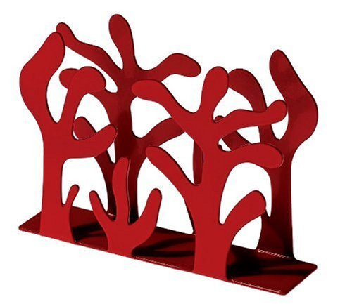 Alessi Mediterraneo Napkin Holder, Red