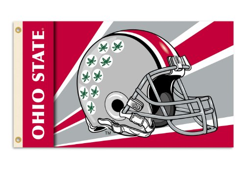 (NCAA Ohio State Buckeyes 3-by-5 Foot Flag with Grommets - Helmet Design)