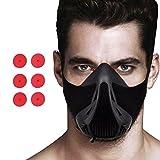 Racol Training Mask Sport Workout Fitness Mask for Running Biking Fitness Endurance Exercise Breathing mask with Air Flow Level Regulator for Men/Women