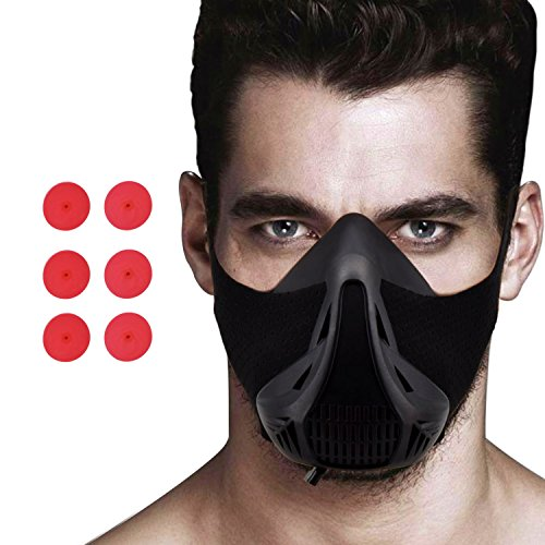 Racol Training Mask Sport Workout Fitness Mask for Running Biking Fitness Endurance Exercise Breathing mask with Air Flow Level Regulator for Men/Women by Racol