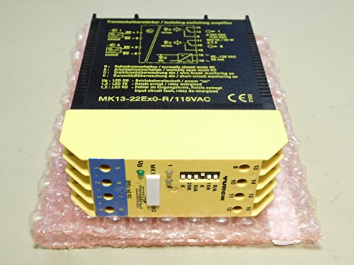 BRAND NEW - Turck MK13-22Ex0-R/115VAC Safety Barrier Relay by Turck